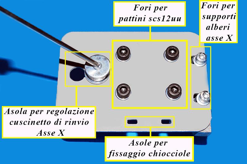Flangia cuscinetto di rinvio asse x stampante 3d 3dielle.jpg